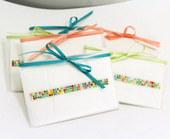 Colorful Gift Tissues in Vellum Envelopes