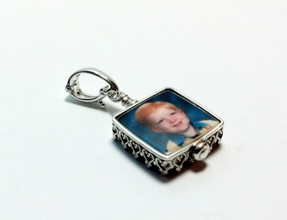 "Princess Framed Photo Charm on a Hinged Bail - Mini (.5"")"