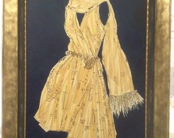 Simone, Original Dress Pattern Collage