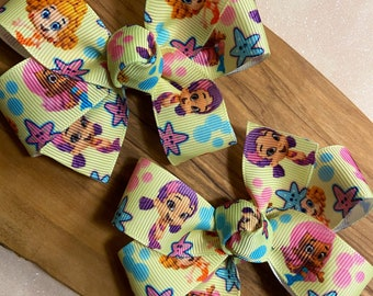 Bubble Guppies Hair Bows - Bubble Guppies Party, Bubble Guppies, Bubble Guppies Birthday, Bubble Guppies Party Favors