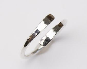 Minimalist Equality Ring, Open Adjustable Argentium Band, 3 3.5 4 4.5 5 5.5 6 6.5 7 7.5 8 8.5 9 9.5 10 10.5 11 11.5 12 All Sizes Custom Made