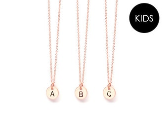 b7f4c48e703 EJDkids // The Mini Initial Necklace - 14k Rose Gold-Filled // by Emma Jane  Designs / Simple, Minimalist Style / Jewelry for Kids