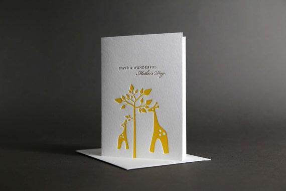 Giraffe Mother's Day