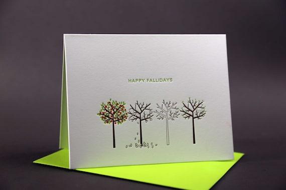 Happy Fallidays Letterpress Card