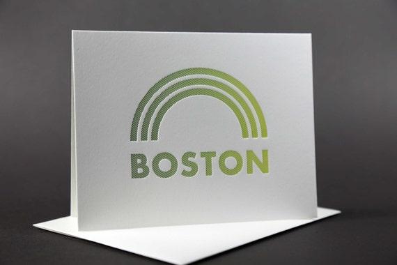 Rainbow Roll: BOSTON Letterpress card