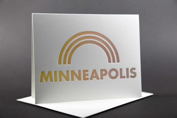 Rainbow Roll: MINNEAPOLIS letterpress card