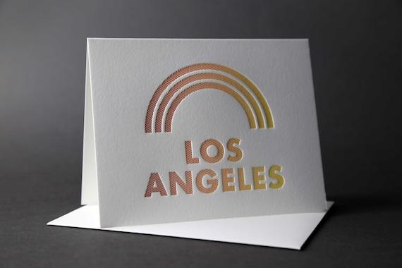 Rainbow Roll: LOS ANGELES letterpress card