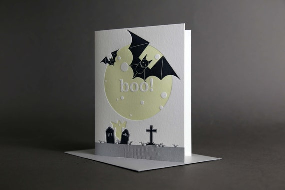 Bats Moon Boo Glow-in-the-Dark