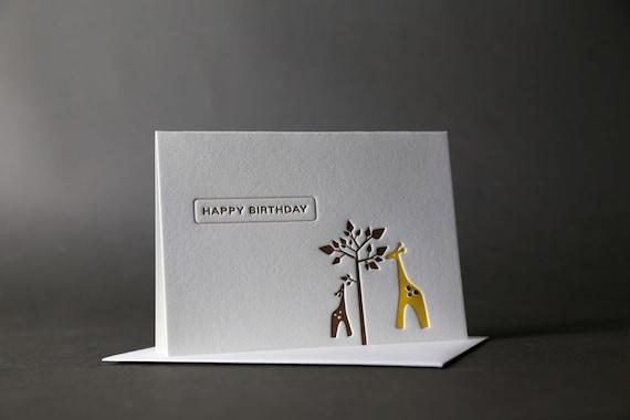 Giraffe Birthday Tree