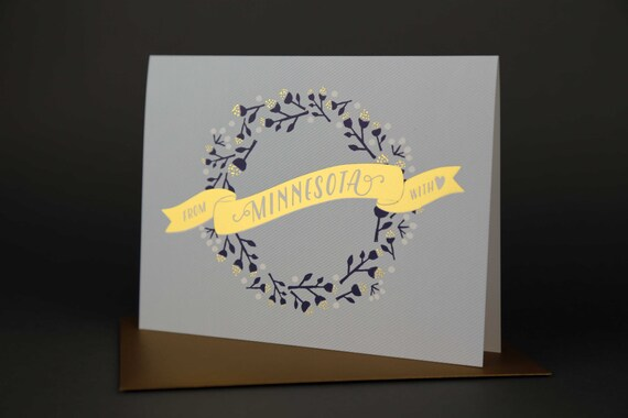 Wreath MINNESOTA Gold Foil card
