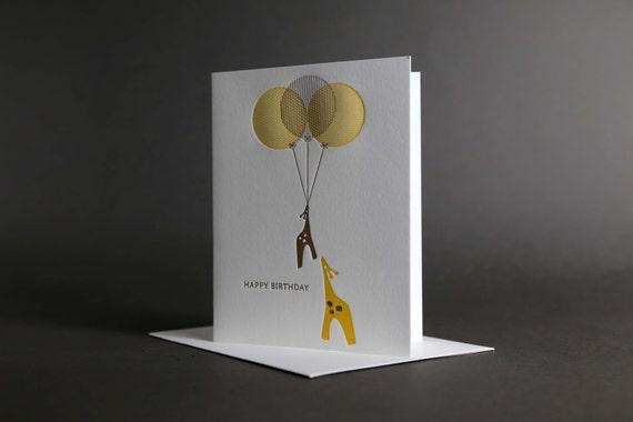 Giraffe Birthday Balloons