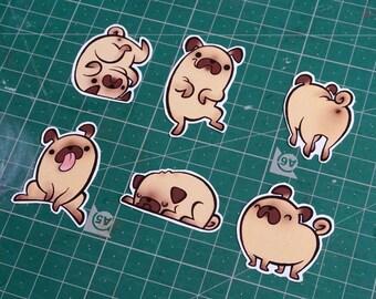 Pugs! - stickers set