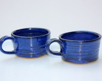 Blue Soup Mug  Pair Each Cup Holds One Cup Also for Coffee or Tea