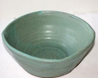 Stoneware Casserole Serving Dish  Bakeware with Pastel Turquoise Glaze