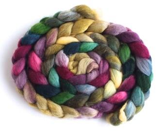 Irregular: Falkland Wool Roving - Hand Dyed Spinning and Felting Fiber, Spring Wash