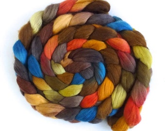 Finn Wool Hand Spinner's Roving, Hand Painted Colorway, Fancy Boots