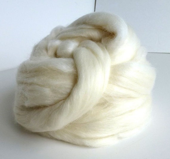 Silk  Polwarth 4060/% wool roving Hand dyed roving 4.0 ounces Tears of Joy 2