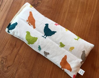 organic eye pillow with removable/washable cover, filled with organic flaxseeds (hot and cold pack)