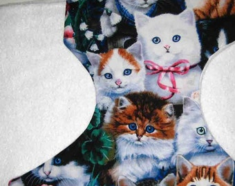 Baby Doll Diaper=Adorable Cat Faces-Fits Baby Alive, Cabbage Patch, Bitty Baby, American Girl Dolls and More