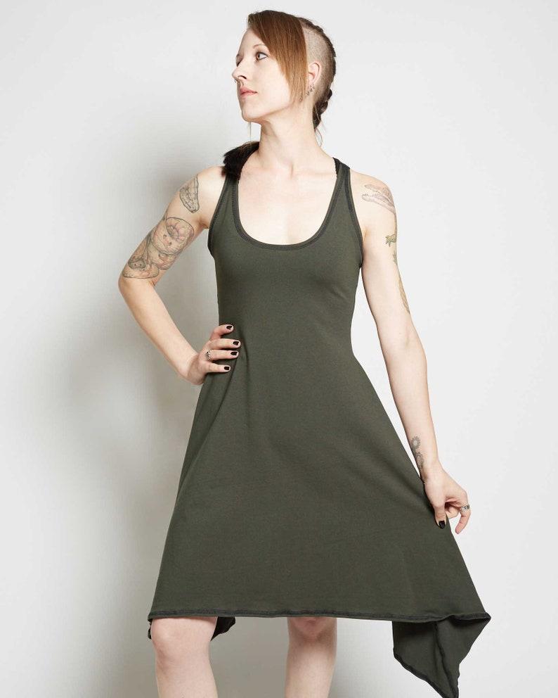 Full Body Women and Girls Racerback Dress Made From Soft Lightweight 4-Way Stretch Cotton Lycra Blend Crisiswear Baseline Dress