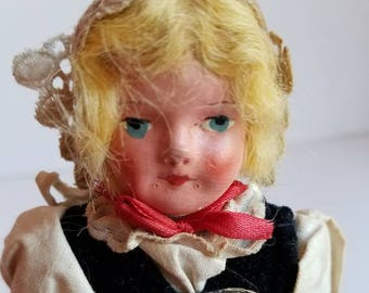 Vintage German Ethnic Composition Doll