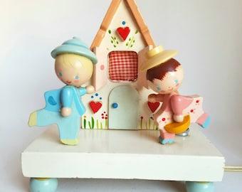 Vintage Irmi Nightlight  * Hansel and Gretel  * Wooden Baby Lamp * Vintage Nursery