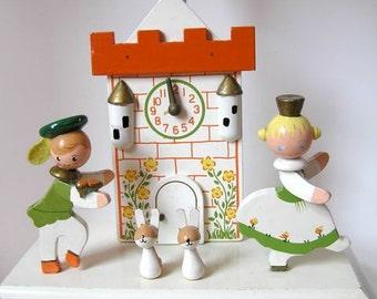 Vintage Nursery Lamp - Vintage Irmi Cinderella & Prince Charming - Lamp w/ Nightlight  - Vintage Nursery - Vintage Baby Lamp