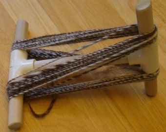 Handmade Small Niddy-Noddie ~ Measures 1 Yard ~ Folds For Travel ~ Nice Oak HardWood ~ Perfect Gift ~ Niddy Noddy