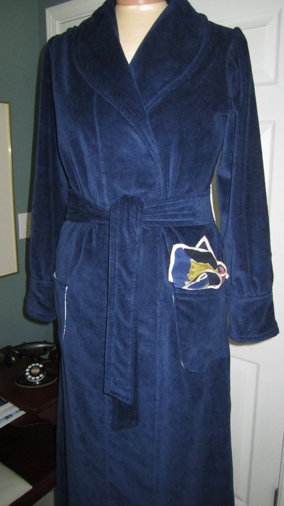 7a744ab285 ... Item  99 Spa Cotton Terry Velour Vintage Inspired Bath Robe   Custom  Handmade To