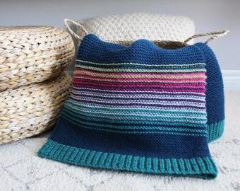 handknit BURTON blanket - vegan friendly - OOAK