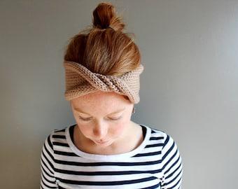 twisted knit headband in CUSTOM COLOUR (vegan friendly)