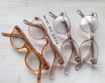 6e9b833896 Kid's 70's Mini Me Pale Pastel Panto Hornrim Square Eyewear Glasses  Eyeglasses Rare Vintage Small Petite Fit Toddler Childs Eyeglass Frames