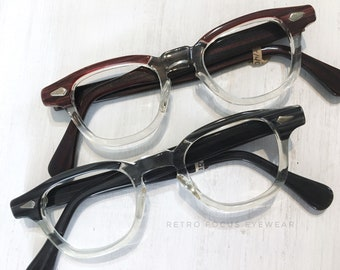 f2477785c2c 50 s Arnel NOS Tart Optical Blackwood Black Clear Bridge Redwood