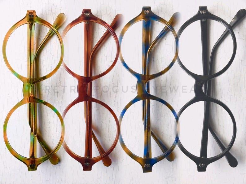 74f8be705eb NOS 60 s Round Eyeglass Frames Vintage Mod Eccentric