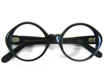 Small Petite Fit Adult sized or Child's 1960's French Round Vintage Eyeglass Frames France Swank