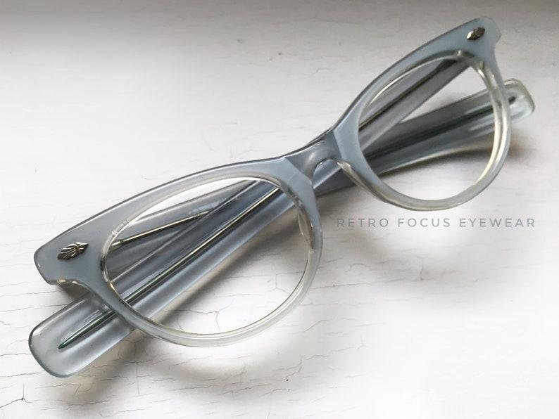 9b7d599c2e0 NOS 50 s Pale Baby Powder Blue Fade to Clear Eyewear