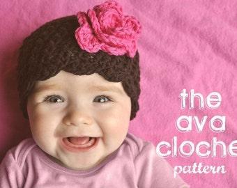 Crochet Baby Hat Pattern - The Ava Cloche Crochet Beanie PATTERN - Buy 3 Patterns Get 1 FREE SALE!