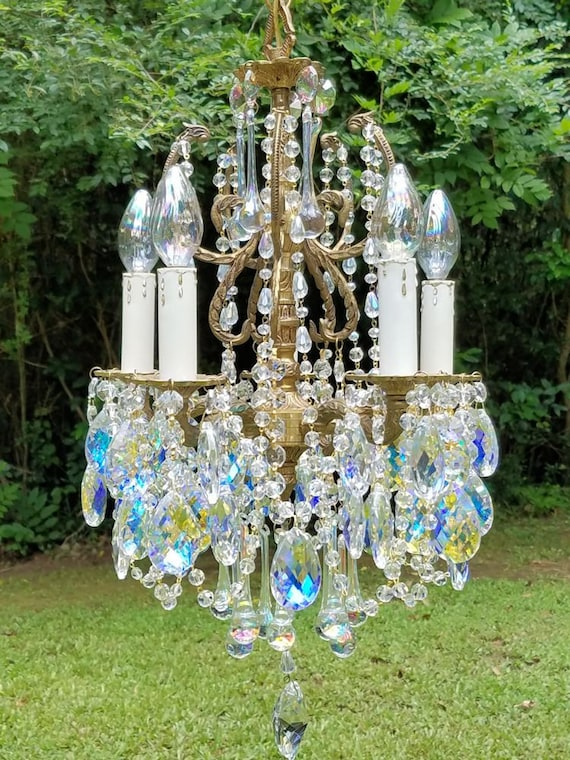 image 0 - Small Crystal Chandelier Small Vintage Chandelier Aurora Etsy