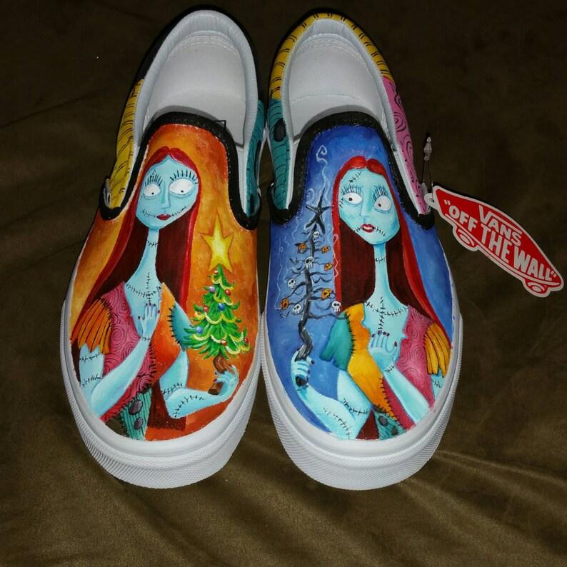 9557471e16 Nightmare before Christmas CUSTOM Disney vans