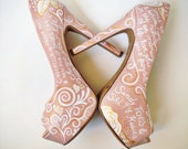 Personalized Hand painted Bridal Shoes