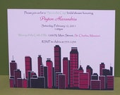 sex in the city bridal shower invitations