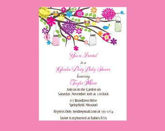 Garden Baby Shower Invitations (set of 10)
