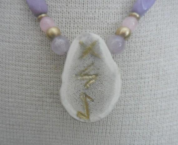 Rose Quartz Carved Cruelty Free Elk Antler Hemp Necklace with Rose Quartz Semiprecious Stone Gemstone Beads Copper Brass Beads Hippie Boho