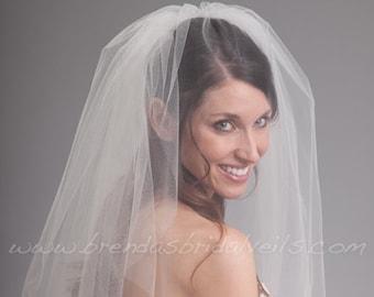 Wedding Veil with Blusher,Bridal Veil Double Layer - Kimberly Veil