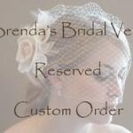 Requested Custom Order Reserved for Leslie Goldman