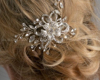 Rhinestone Wedding Comb, Crystal Bridal Hair Comb, Wedding Hair Accessory - Danae