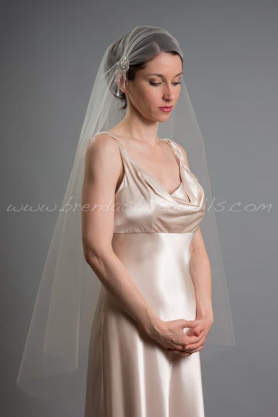 Great Gatsby Wedding Veil, 1920s Inspired Bridal Veil, Art Deco Juliet Cap Veil - Ashana