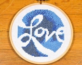 Love - easy cross stitch pattern, PDF *instant download*