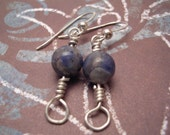 Sodalite Orb Earrings