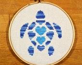 Sea Turtle - easy cross stitch pattern, PDF *instant download*